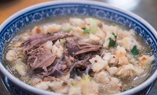 西北年夜饭菜谱之羊肉泡馍