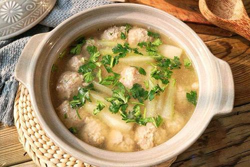家常年夜饭菜谱之冬瓜肉丸汤