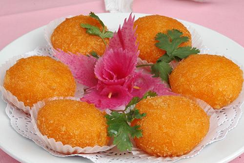 烹饪南瓜饼的两个技巧