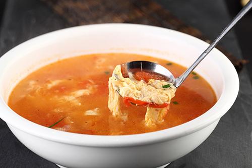 西红柿蛋汤浓淡有妙招